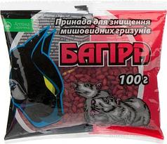 Родентицид Багира зерно 100г средство от мышей и крыс Укравит