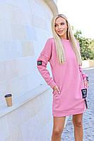 Тепле плаття на флісі з капюшоном норма і батал новинка 2020, фото 1