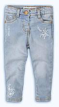 Детские голубые джинсы для девочки