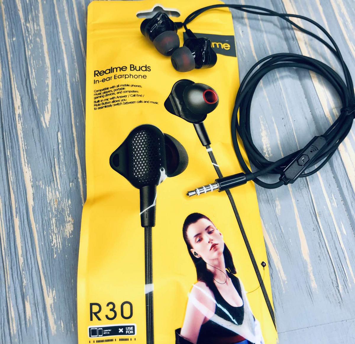Вакуумные наушники Realme R30