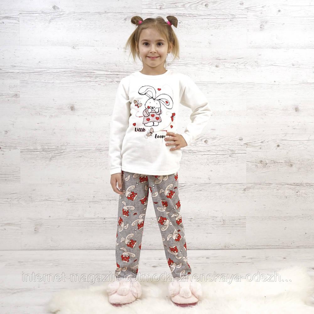 "Симпатичная пижама для девочки с начесом ""Pretty girl"""