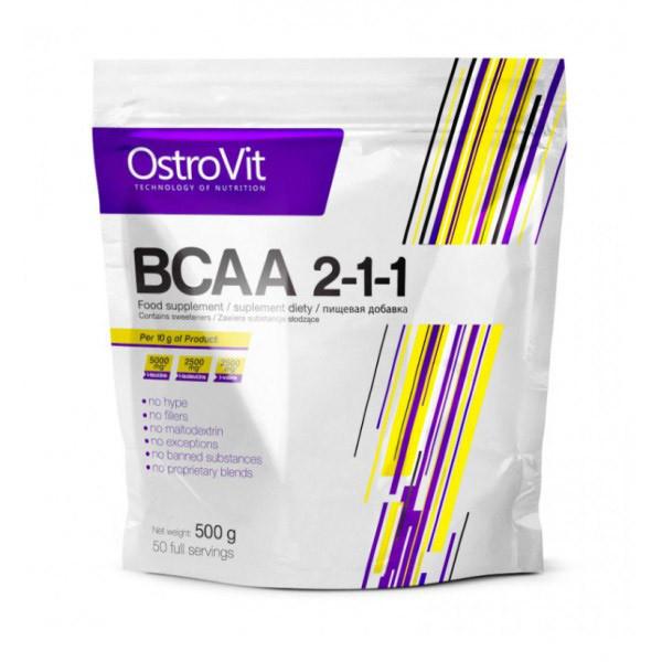 Амінокислоти bcaa Ostrovit BCAA 2:1:1 500 g без смаку