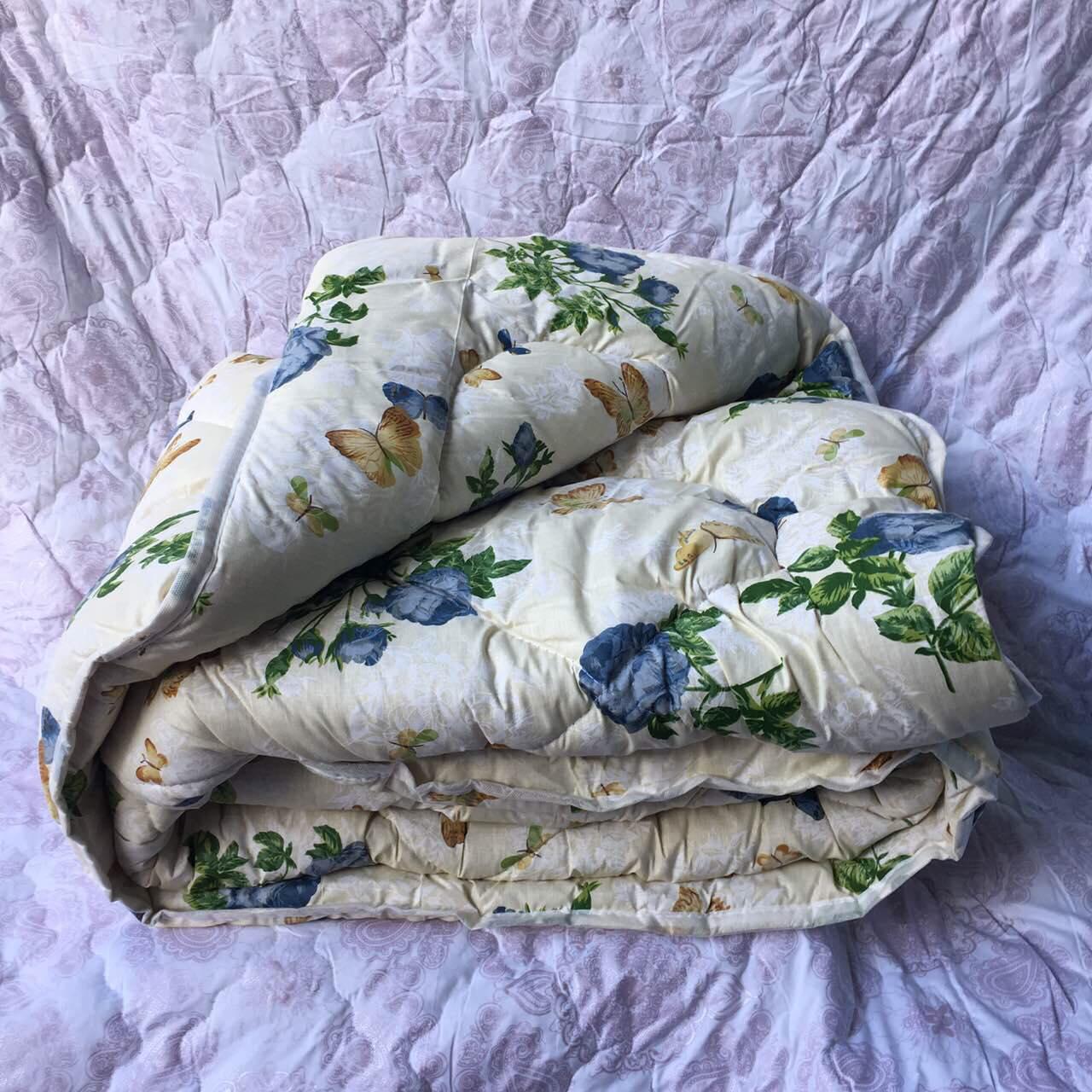 Теплое одеяло овчина двухспальное бязь