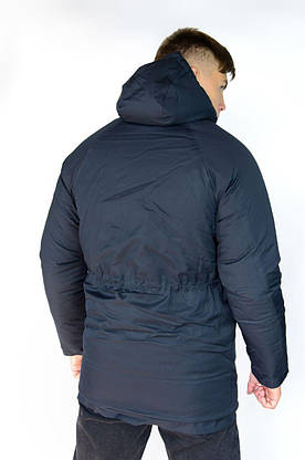 """Зимняя Парка мужская """"Арктика"""" синяя + Перчатки в Подарок длинная куртка, фото 3"""