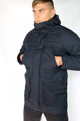 """Зимняя Парка мужская """"Арктика"""" синяя + Перчатки в Подарок длинная куртка, фото 2"""