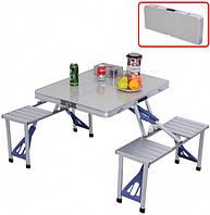 Набор мебели для пикника Folding Table стол раскладной со стульями трансформер (85х67х67)