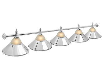Светильник бильярдный Classic Silver 5 плафонов