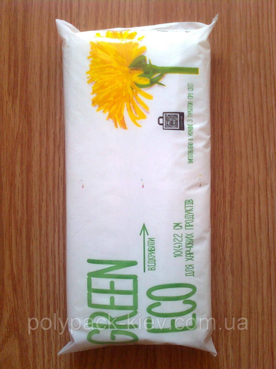 Фасувальний пакет 10*22 см/ 6 мкм, 1000 шт. біорозкладані фасувальні пакети, блокова фасовка для бутербродів
