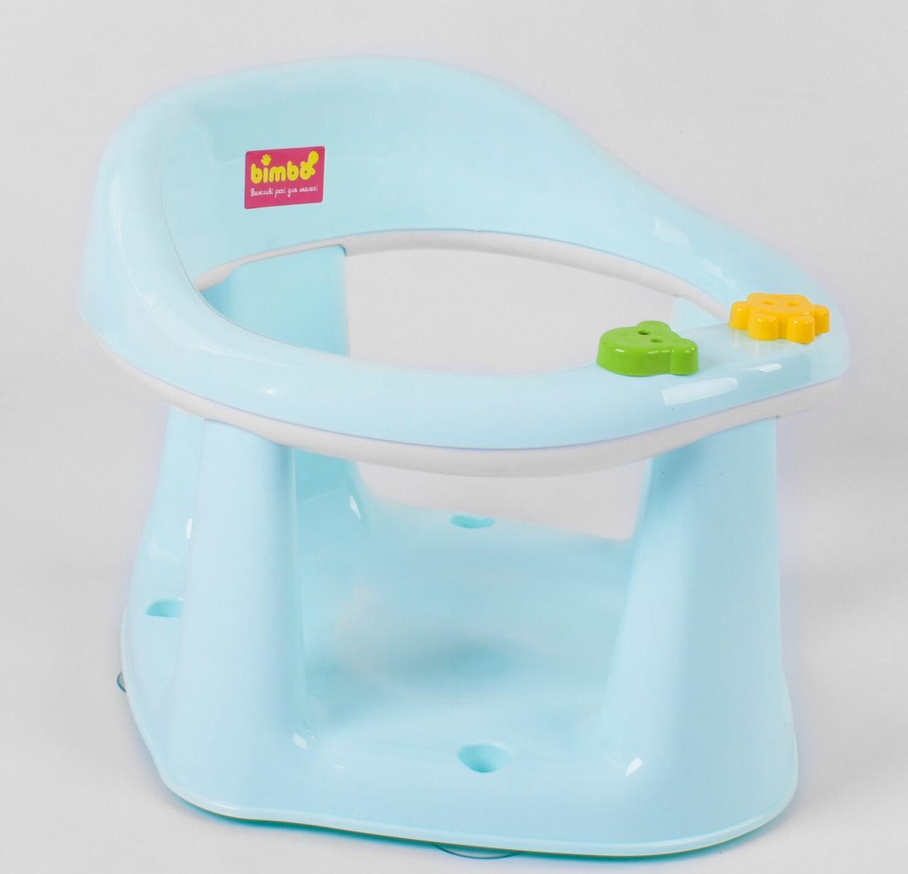 """Детское сиденье для купания на присосках BM-03606-1 NEW - MINT """"BIMBO"""" с вращающимися игрушками Мятный"""