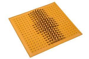 Коврик резиновый WAVE от плоскостопия желтый MS-1209-11