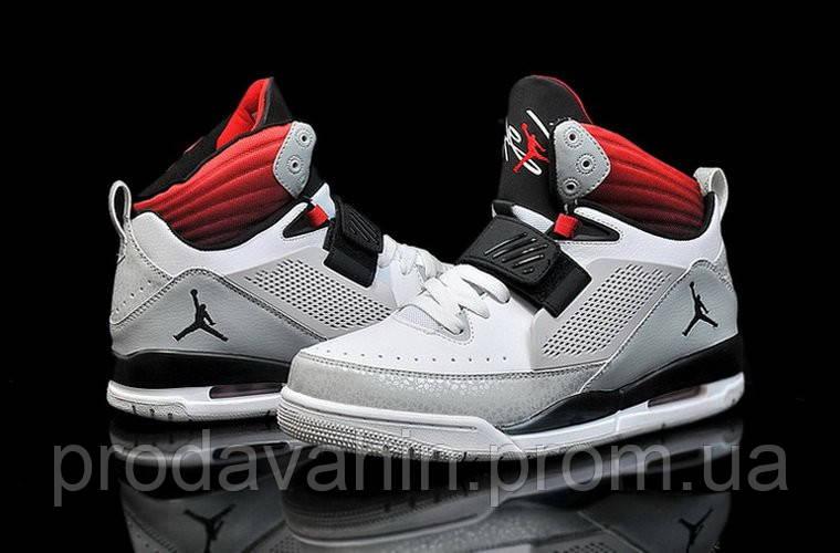 6b7c37f4 Кроссовки баскетбольные мужские Nike 97 Flight Серо-красные баскетбольные  кроссовки - Интернет-магазин