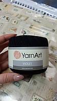 Нитки ирисовые для вязания YarnArt Violet. 50 г. 282 м. Цвет - черный. Хлопок