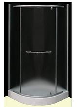 FS-02/90 (90х90см). Душевая кабина KO&PO с мелким поддоном (13,5см), стекло с декором