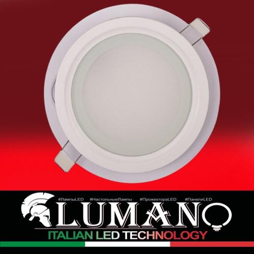 Світлод.LED-панель вбуд.зі скляним декором LU-RG 6W круг 4200К IP20 (10/ящ) TM LUMANO (12 міс.гаран)