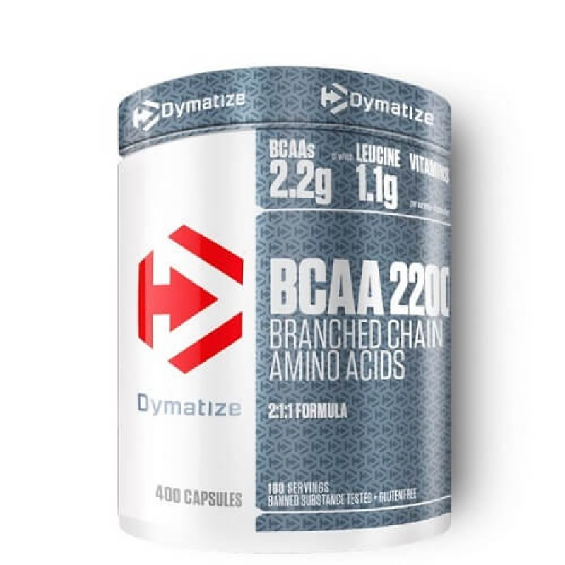 Амінокислоти bcaa Dymatize BCAA Complex 2200 (400 caps)