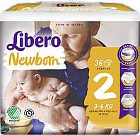 Libero Newborn подгузники детские 2 (3-6 кг) 36 шт