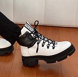 Ботинки женские зимние белые, фото 2
