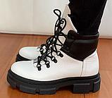 Ботинки женские зимние белые, фото 6