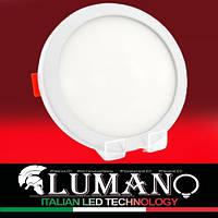 Панель LED 24W 4000K круг (d 230) (рег.50-200) врезная/универсальная (движимые клипсы) LUSQ-UNI-24W LUMANO, фото 1