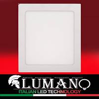 Панель LED накладная LUSF SQ-18C 4000K 18W квадрат (210*210*28) алюминий (12міс.гар) TM LUMANO, фото 1