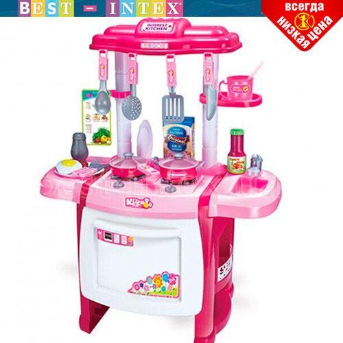 Детская игровая кухня Limo Toy WD-P19-R19 Розовая