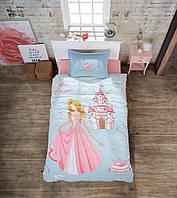 Подростковое постельное белье из турецкой ткани ранфорс Aran Clasy Crown 160x220 SKL53-239718