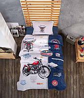 Подростковое постельное белье из турецкой ткани ранфорс Aran Clasy Road King 160x220 SKL53-240100