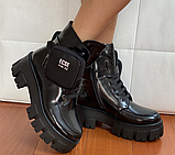 Мартінси жіночі чорні черевики, фото 6