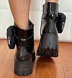 Мартінси жіночі чорні черевики, фото 3