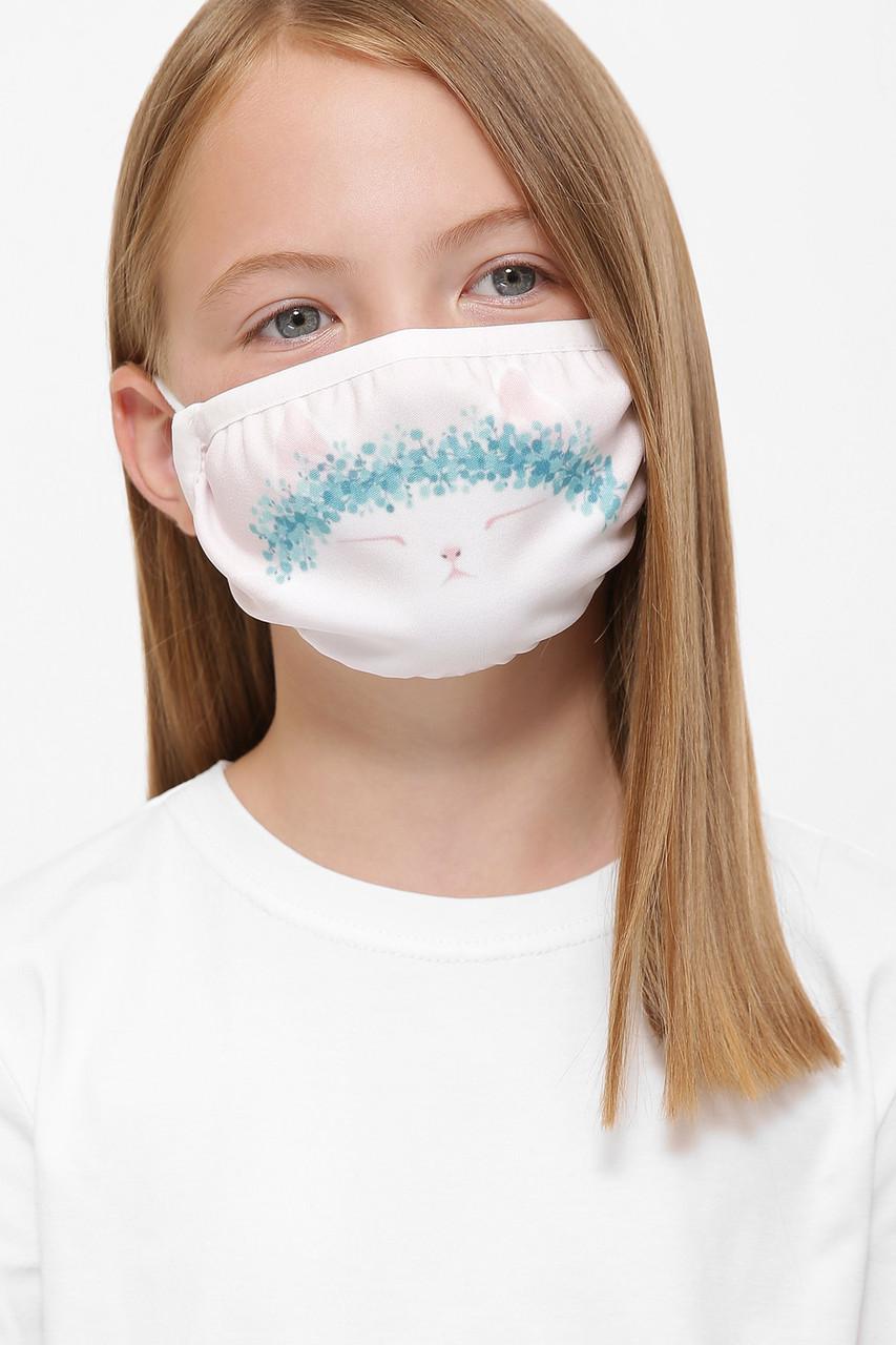 Детская защитная двухслойная маска с принтом