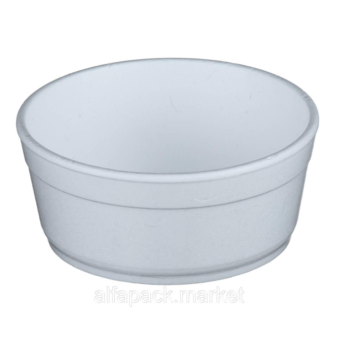 Супниця з спіненого полістиролу 340 мл з кришкою (50 шт в упаковці) 010600506