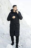 Мужская длинная очень тёплая зимняя стёганная куртка S M L XL в 3-х цветах