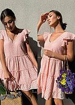 Стильное легкое летнее платье из хлопка хит сезона, фото 2