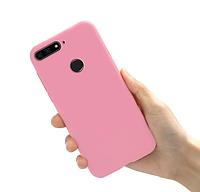 Чехол силиконовый для Huawei Y6 Prime 2018 розовый