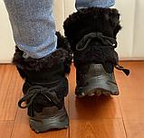 Ботинки женские зимние замша черные Tomfrie 27137, фото 5