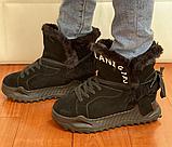 Ботинки женские зимние замша черные Tomfrie 27137, фото 4