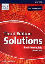 Solutions Third Edition Pre-Intermediate Student's Book with Online Practice / Учебник с кодом