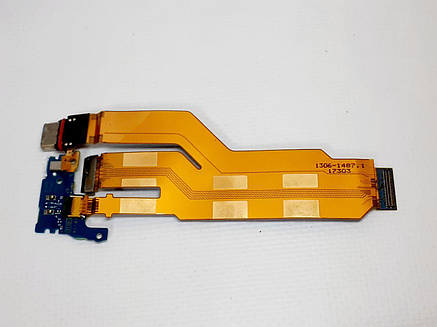 Шлейф Sony F8331 Xperia XZ / F8332 Xperia XZ / G8231 Xperia XZs / G8232 Xperia XZs, с разъемом на зарядку , ор, фото 2