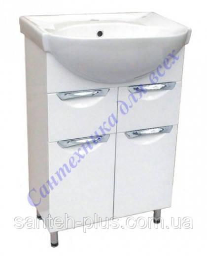Тумба для ванной комнаты Грация Т5 с умывальником Вега-50