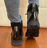 Мартінси жіночі чорні черевики, фото 4