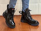 Мартінси жіночі чорні черевики, фото 5