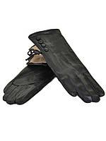Перчатка Женская кожа F24/17 мод 1 black шерсть. Купить перчатки оптом в Украине по выгодным ценам