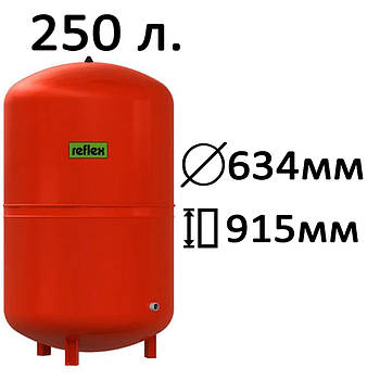 Расширительный бак вертикальный N,NG Reflex 250