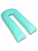 Подушка для беременных с наволочкой для кормления обнимашка U образная подкова Минки плюш XL 290 см Radi Vsi