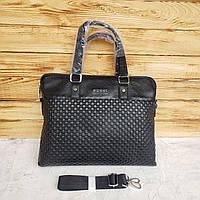 Мужской кожаный деловой портфель для документов Gucci Гуччи реплика