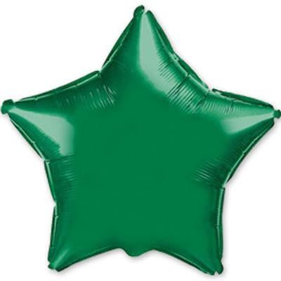 1204-0098 Куля фольгований зірка 46 см зелена