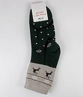 Носки теплые махровые Lomani размер 36-40 зеленые