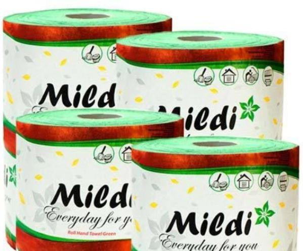 Полотенца рулонные Mildi Premium однослойные d = 160 мм, 100 м, зеленые