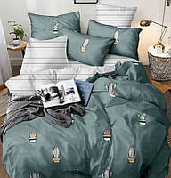 Семейное постельное белье-Кактус в горшке