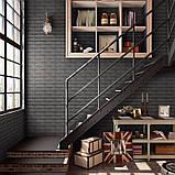 Декоративная 3D панель стеновая самоклеющаяся под кирпич СЕРЕБРО 700х770х7мм, фото 3